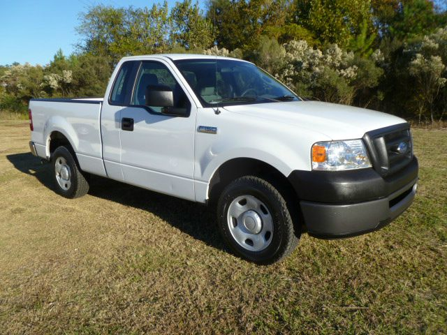 2008 FORD F150 XL 2WD white regular cab short bed with extra doors for easier access behind seat