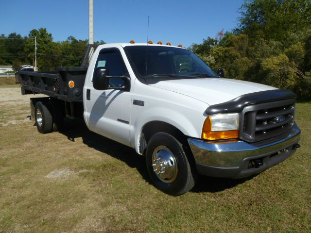 2000 FORD F350 FLAT BED DUMP 11FT STEEL FLAT BED REG CAB white if you need a work horse than this