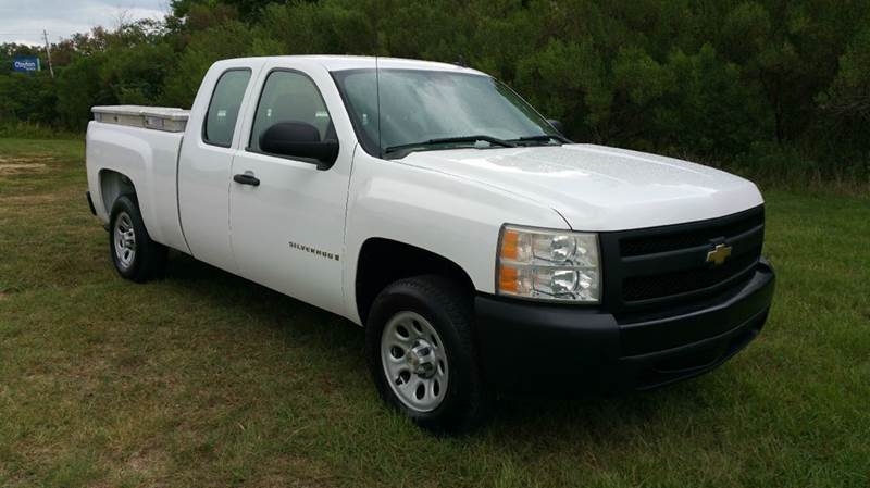 2007 CHEVROLET SILVERADO 1500 4DR EXTENDED CAB 65 FT SB white really nice extended cab with roo