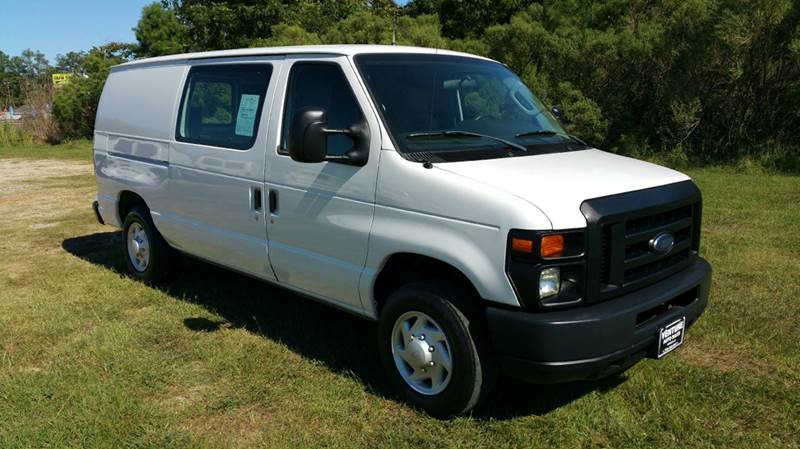 2009 FORD E-SERIES CARGO E-150 3DR CARGO VAN white really nice adrian steel shelves cabinets  d