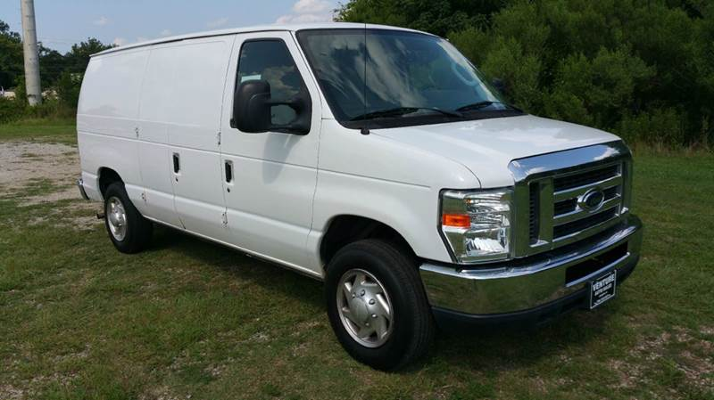 2011 FORD E150 SERIES CARGO 3DR CARGO VAN white 2 sides of really nice adrian steel shelves draw
