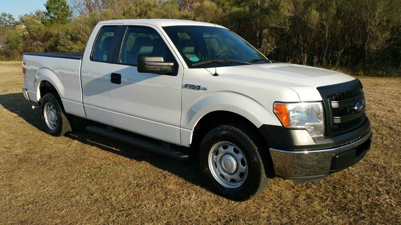 2013 FORD F-150 XL 4X2 4DR SUPERCAB STYLESIDE 6 white 2013 f150 extended cab short bed with t
