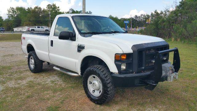 2008 FORD F-350 SUPER DUTY XL 4X4 PICKUP REGULAR CAB LB white if you need a heavy duty work horse