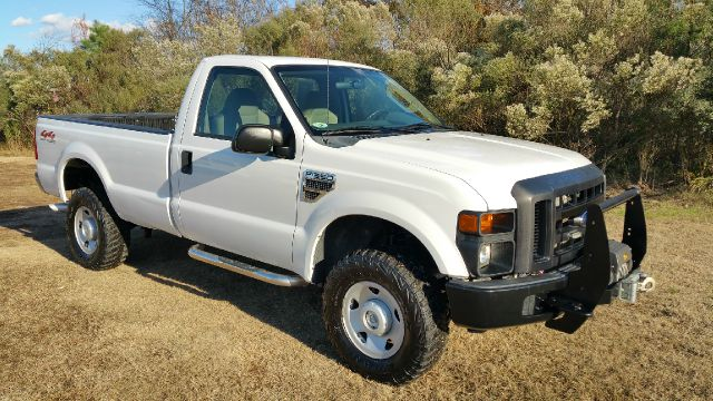 2008 FORD F-350 SUPER DUTY XL 4X4 PICKUP REG CAB LONG BED white 4x4 regular cab long bed with pl