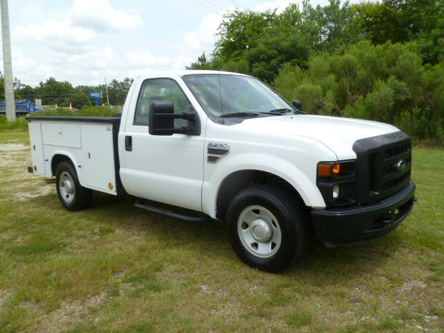 2008 FORD F-250 SUPER DUTY XL 2DR SERVICE BODY white low profile knapheide service body with flip