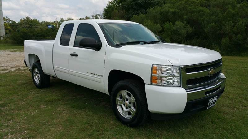 2009 CHEVROLET SILVERADO 1500 LT 4X2 4DR EXTENDED CAB 65 FT white super sharp short bed exten
