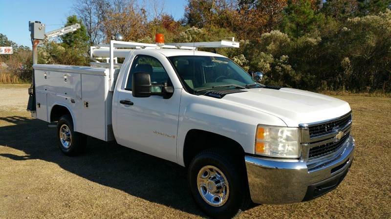 2007 CHEVROLET 2500 HD SERVICE TRUCK 2DR REG CAB 2WD white nice reading service body with flip to