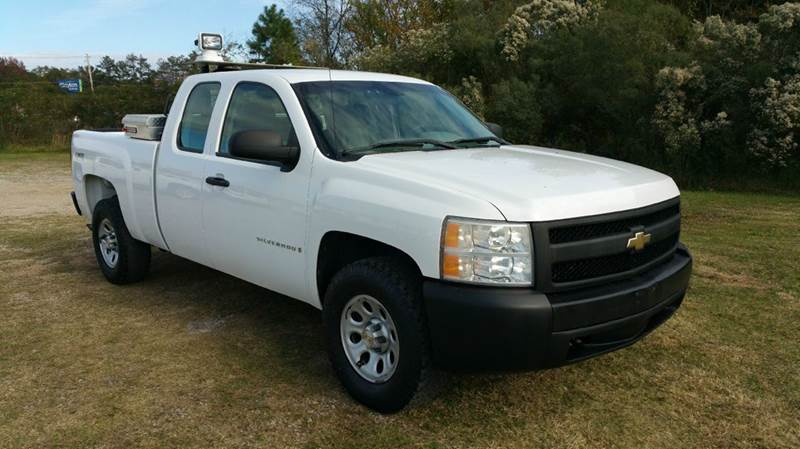 2007 CHEVROLET SILVERADO 1500 LT1 4DR EXTENDED CAB 4WD 65 FT white 4x4 extended cab short bed