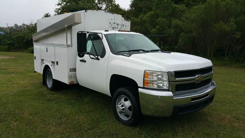 2008 CHEVROLET SILVERADO 3500HD ENCLOSED SERVICE BODY 2DR REG CAB LONG BED white really nice omah