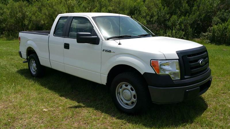 2012 FORD F-150 XL 4X2 4DR SUPERCAB STYLESIDE 6 white extended cab short bed with all power ke