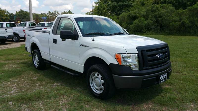 2010 FORD F-150 XL 4X4 2DR REGULAR CAB STYLESIDE white regular cab short bed 4x4 with a tool bo