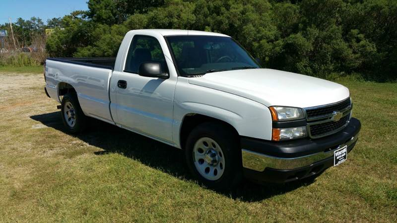 2007 CHEVROLET SILVERADO 1500 CLASSIC LS 2DR REGULAR CAB 8 FT LB white regular cab long bed wit