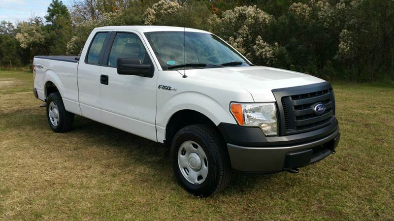 2009 FORD F-150 XL 4X4 4DR SUPERCAB STYLESIDE 6 white 4x4 f150 extended cab short bed is actual