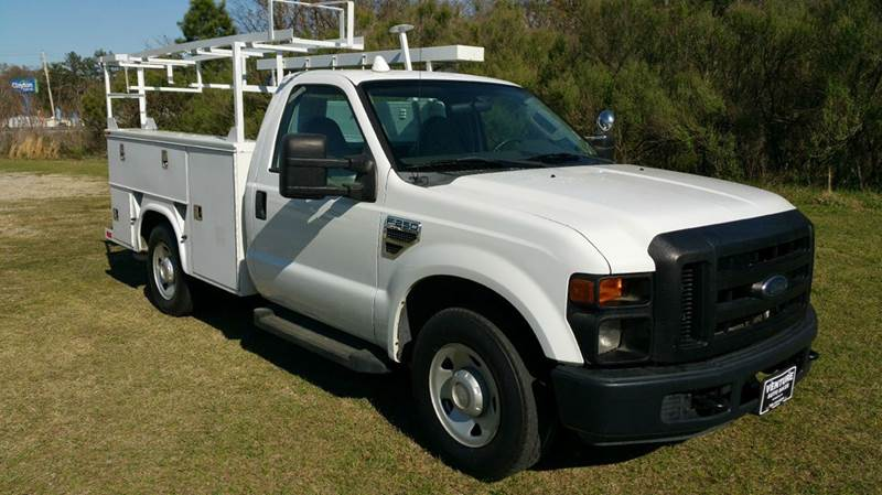 2008 FORD F-250 XL SERVICE TRUCK 2DR SERVICE BODY white kanpheide service body with top boxes th