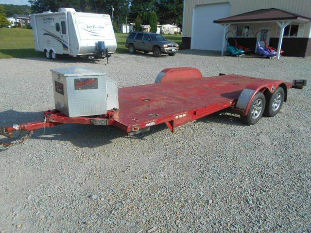2007 18' Car Trailer Rollback Sloan Quickload