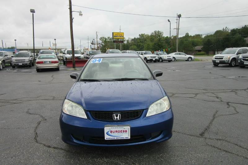 2004 Honda Civic LX 2dr Coupe - 85 used vehicles in stock --> www.burgessautosales.com <-- - Michigan City IN