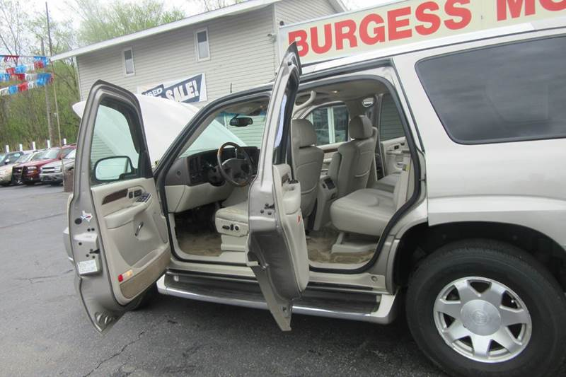 2003 Cadillac Escalade AWD sunroof -  $259.87 /month with  $188 down payment  - Michigan City IN