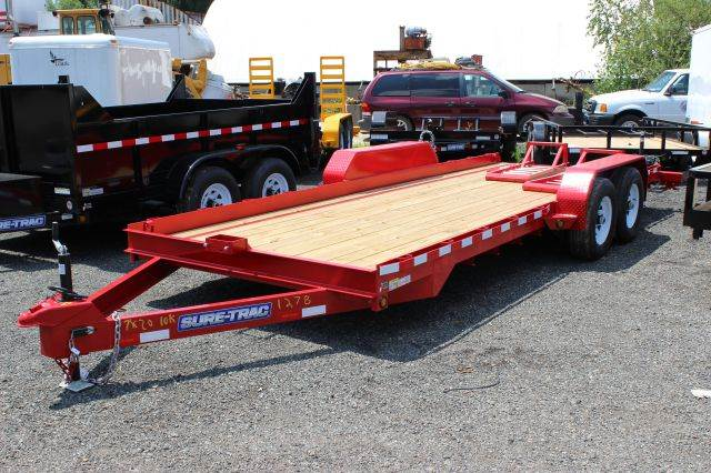 2014 Novae Sure-Trac 7' x 20' Skid Steer equipment Trailer