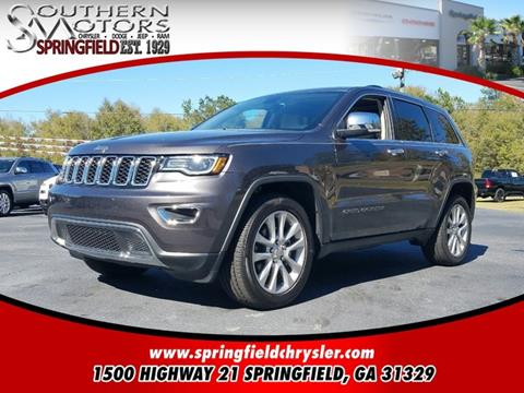 2017 Jeep Grand Cherokee for sale in Springfield, GA