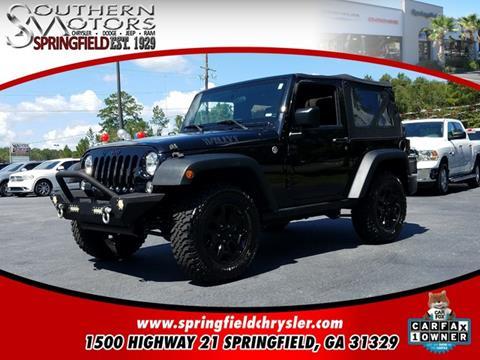 2015 Jeep Wrangler for sale in Springfield, GA