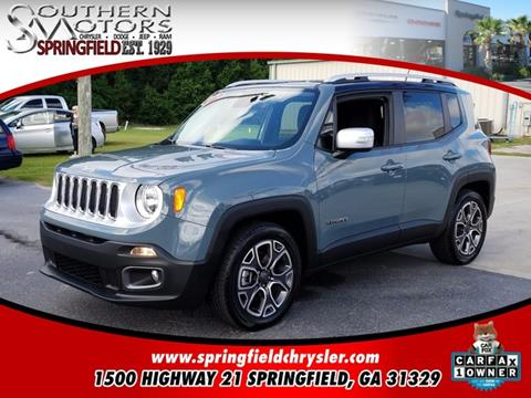 2017 Jeep Renegade for sale in Springfield GA