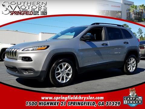 2017 Jeep Cherokee for sale in Springfield, GA