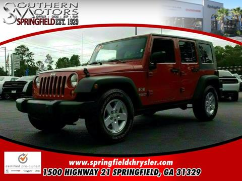 2008 Jeep Wrangler Unlimited for sale in Springfield, GA