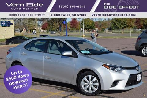 2016 Toyota Corolla for sale in Sioux Falls SD