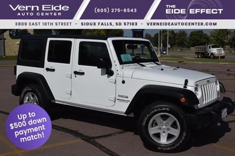2016 Jeep Wrangler Unlimited for sale in Sioux Falls SD