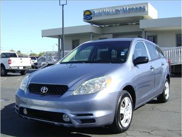 2004 toyota matrix for sale for Sun valley motors sacramento