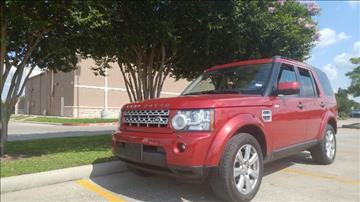 2013 Land Rover LR4 for sale in Houston, TX