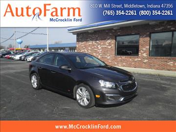 2015 Chevrolet Cruze for sale in Middletown, IN