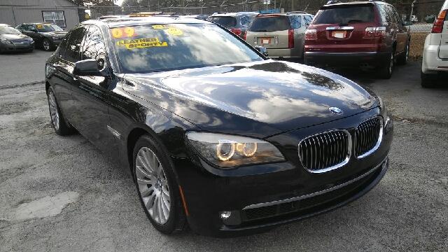 2009 BMW 7 SERIES 750I 4DR SEDAN black 2-stage unlocking doors abs - 4-wheel active head restra