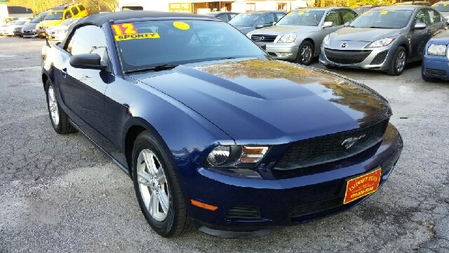 2012 FORD MUSTANG V6 2DR CONVERTIBLE dark blue 2-stage unlocking doors airbag deactivation - occ