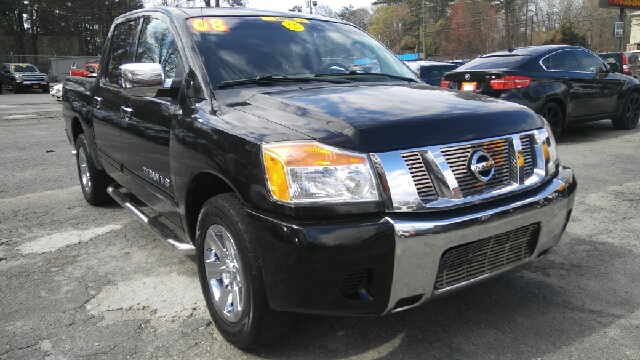 2008 NISSAN TITAN SE FFV 4X2 4DR CREW CAB SHORT BE black 2-stage unlocking doors abs - 4-wheel