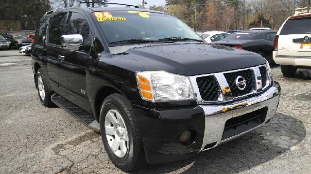 2006 NISSAN ARMADA SE 4DR SUV black abs - 4-wheel active head restraints - dual front adjustabl