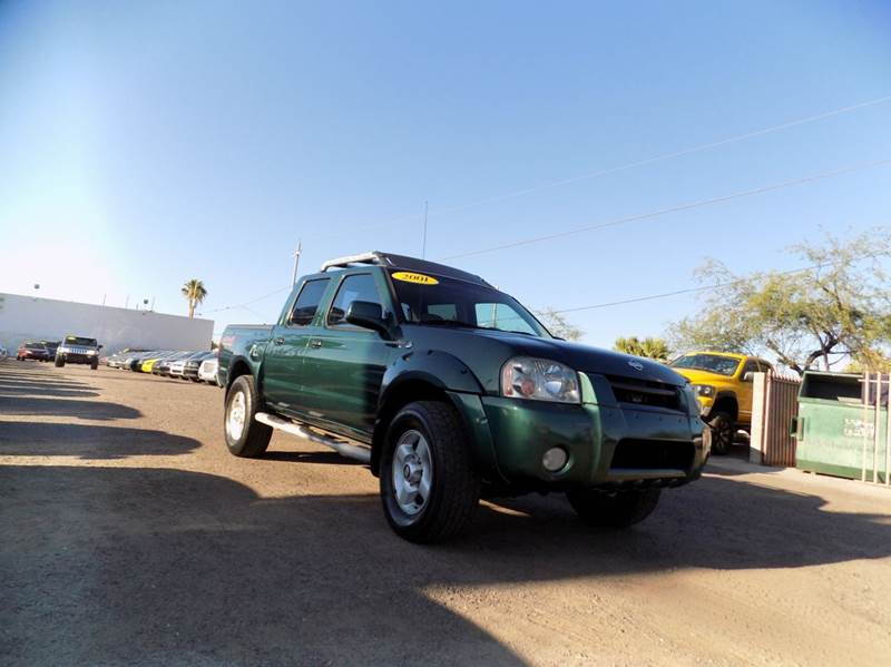 2001 NISSAN FRONTIER XE 4DR 4WD CREW CAB SB green financing available all prices are subject to