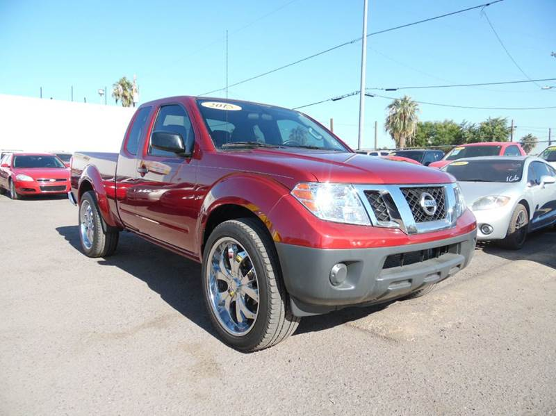 2015 NISSAN FRONTIER S 4X2 4DR KING CAB 61 FT SB PI maroon utility and convenience all in one