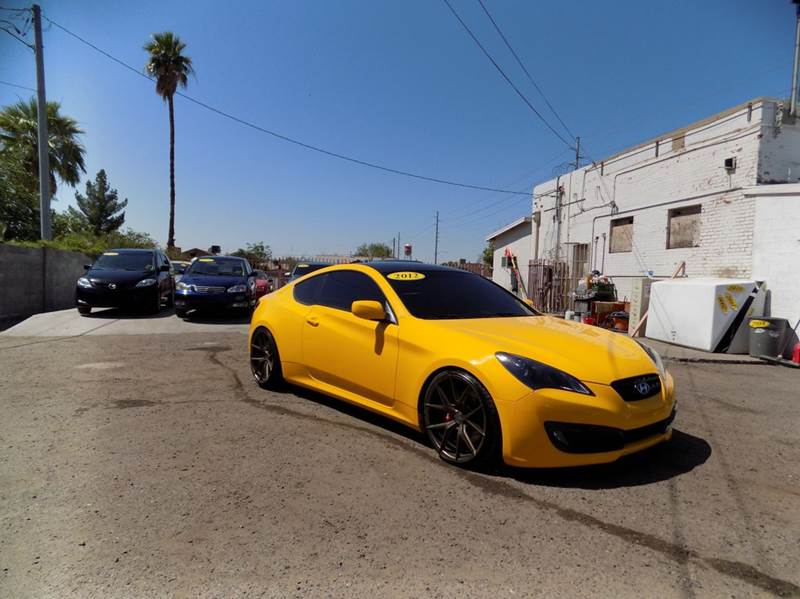 2012 HYUNDAI GENESIS COUPE 38 GRAND TOURING 2DR COUPE W B yellow financing available all prices
