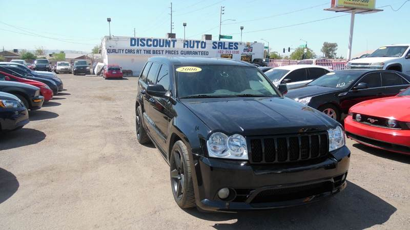 2006 JEEP GRAND CHEROKEE SRT8 4DR SUV 4WD W FRONT SIDE A black this amazing 2006 jeep cherokee sr