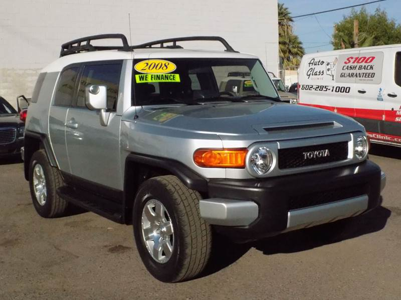 2008 TOYOTA FJ CRUISER BASE 4X4 4DR SUV 5A silver check out this beautiful silver 20087 toyota fj