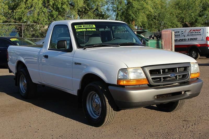 2000 FORD RANGER XL 2DR STANDARD CAB SB white abs - rear axle ratio - 373 bumper detail - rear