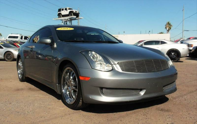 2007 INFINITI G35 BASE 2DR COUPE 35L V6 5A silver this good quality and safe 2007 infinity g35