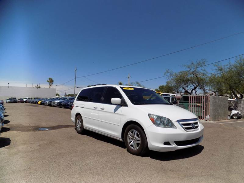 2005 HONDA ODYSSEY EX-L WDVD WNAVI MINI VAN 4DR A white  abs 4-wheel  air conditioning  ai