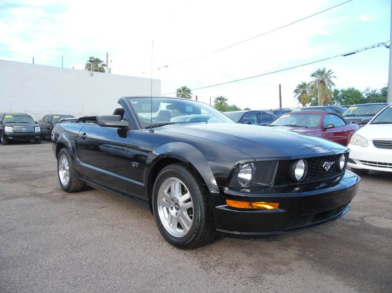 2007 FORD MUSTANG GT PREMIUM 2DR CONVERTIBLE black 2007 ford mustang gt 48l v8 engine automat