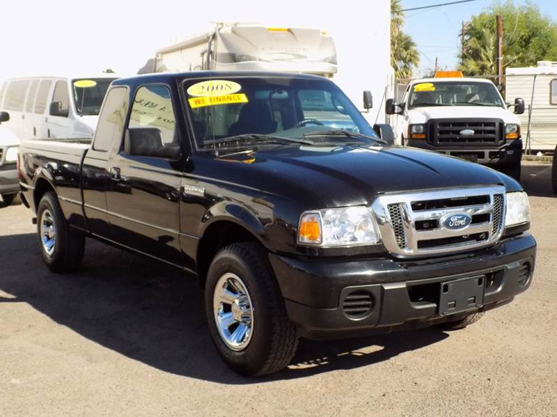 2008 FORD RANGER XLT 4X2 4DR SUPERCAB SB black in need of a mid-size pickup truck if so the 2008