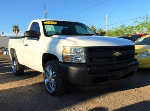 2011 CHEVROLET SILVERADO 1500 WORK TRUCK 4X2 2DR REGULAR CAB 6 white if you are in need of a basi