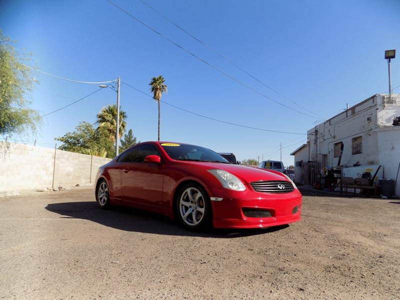 2003 INFINITI G35 BASE 2DR COUPE WLEATHER red financing available all prices are subject to tax