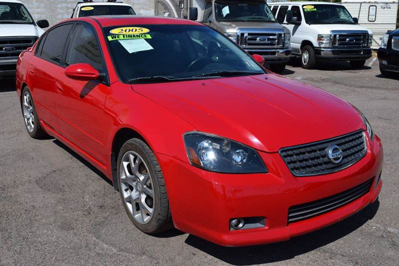 2005 NISSAN ALTIMA 35 SE-R 4DSEDAN red 2005 nissan altima se-r manual transmission with at 35