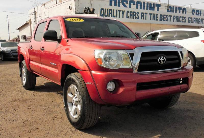 2007 TOYOTA TACOMA PRERUNNER V6 4DR DOUBLE CAB 50 red this 2007 toyota tacoma pre-runner  sr5 is